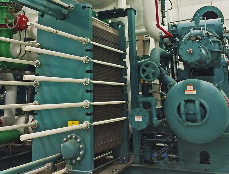 Industrial Refrigeration tanks green