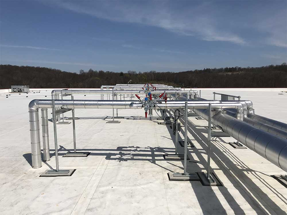 Roof with Refrigeration piping