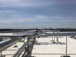 Refrigeration piping on roof