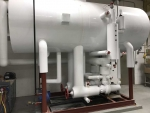 white industrial refrigeration tank