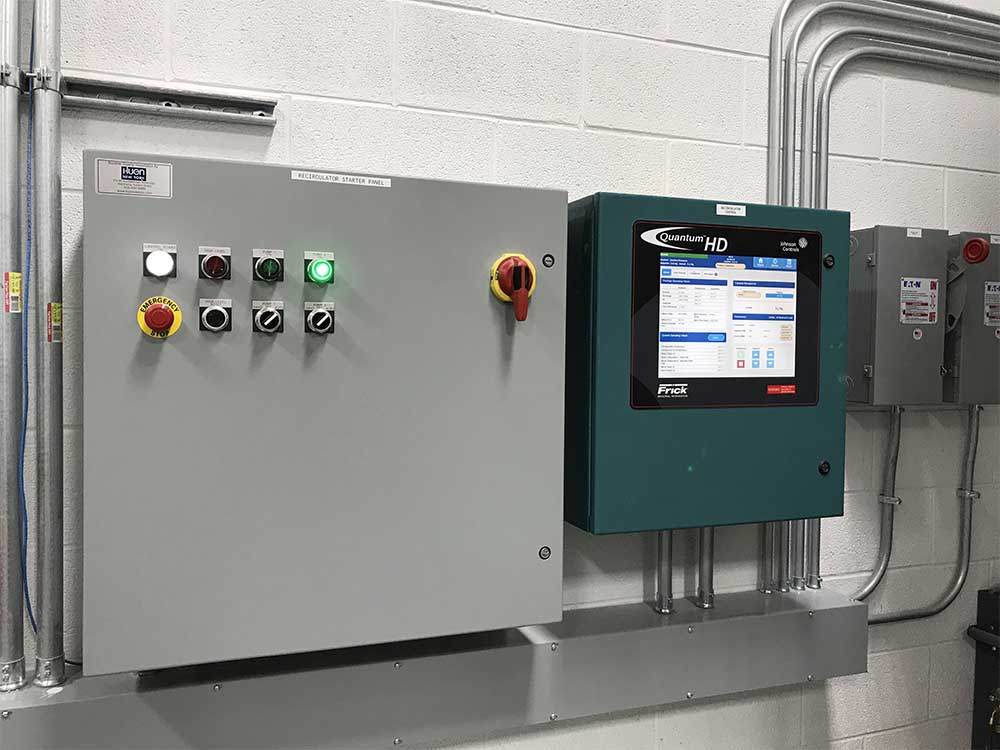 Control boxes for industrial refrigeration
