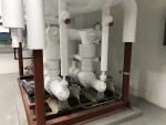 White industrial Refrigeration pipes