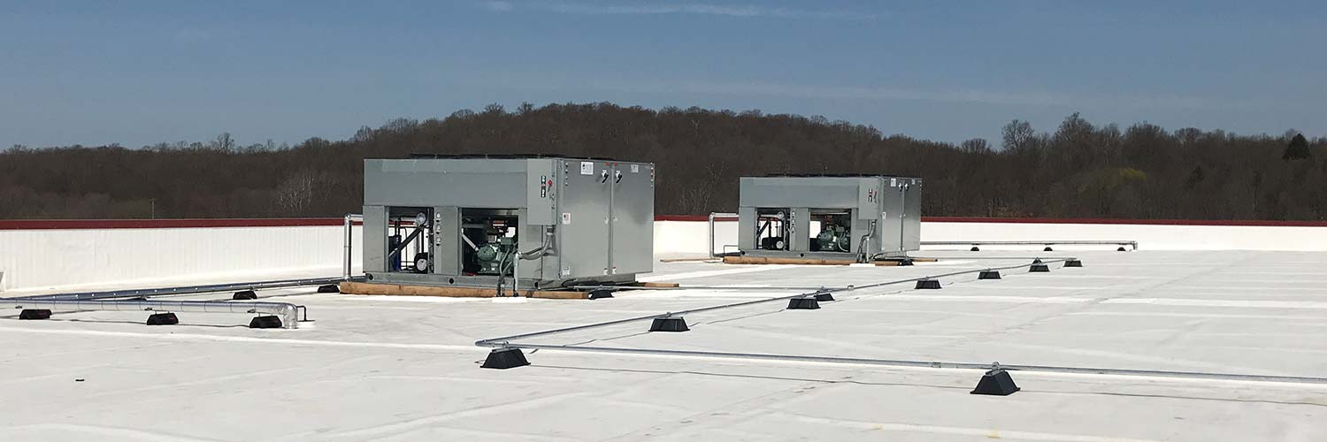 Refrigeration units on the roof