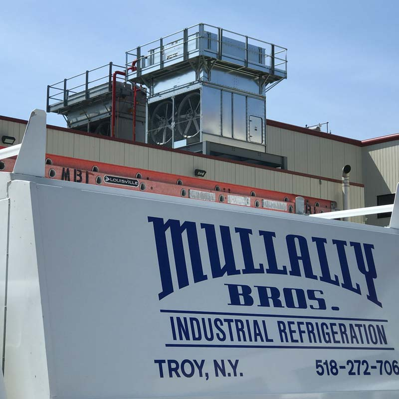 Mullally Bros Industrial Refrigeration Sign